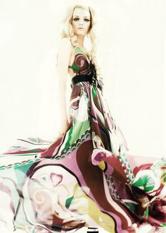 Lily Donaldson (in Emilio Pucci) by Greg Kadel for Numéro No. 64, June 2005