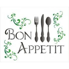 Stencil Molde Vazado Bon Appetit 20x25cm OPA1153