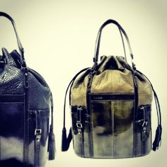 Abella ink and green leather handbags by L.A.M.B exclusive 2013 fall collection #fashion #style #handbags #purses