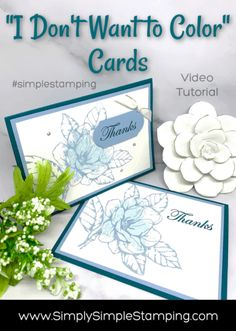 Card Making Hack That You'll Love for Bold, Simple Stamped Cards I have a card making hack that you'll love for simple stamping! Learn how to color a BIG stamped image super fast and simple stamping style for a great card Card Making Tips, Card Making Tutorials, Card Making Techniques, Making Ideas, Making Cards, Card Making Inspiration, To Color, Color Card, Magnolia Stamps