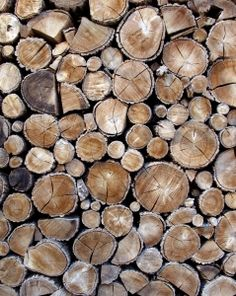 I want to fill my non working fireplace with logs like this.
