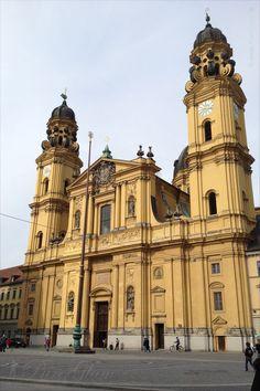 Yellow Theatiner Church/Kirche at Odeonsplatz - Munich/ München, Germany/Deutschland