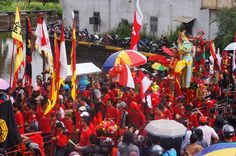 The Great Parade was centered at the main Temple of Singkawang. Photo by Teguh Wicaksono