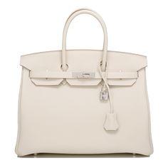 #Hermes Birkin #Bag Craie Togo Palladium Hardware