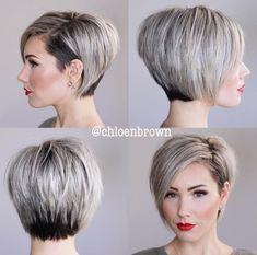 New Hair Cuts Short Brown Waves Ideas Short Bob Haircuts, Straight Hairstyles, Cool Hairstyles, Undercut Hairstyles, Hairstyles 2018, Short Bob With Undercut, Undercut Pixie, Haircut Short, Hairstyle Short