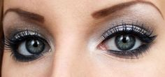 Makeup for redheads with blue eyes - makeup for grey eyes with silver eyeshadows