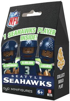 Oyo sports seattle seahawks minifigure blind pack on shopstyle.com