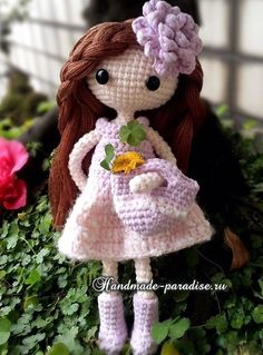 How to make a hair doll amigurumi (7) ♡ lovely doll
