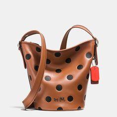 Mini Duffle in Saddle Dot Leather Leather Crossbody c3e84245147b0