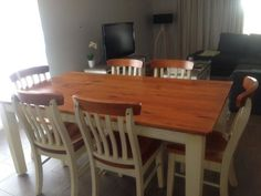 Selling our much loved dining room table and chairs  Very well looked after, few minor marks located in photo  $290 firm located in Bathurst  Table dimensions 170cms x 104cms #rangloo, #bar, #accessories