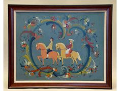 Framed Panel of Telemark Bridal Couple by Sigmund Aarseth