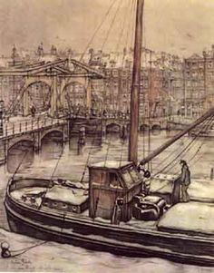 Anton Pieck Dutch painter and graphic artist. His work contains… Anton Pieck, Dutch Painters, Dutch Artists, Ship Art, Illustrations And Posters, Beautiful Paintings, Graphic, Netherlands, Illustrators