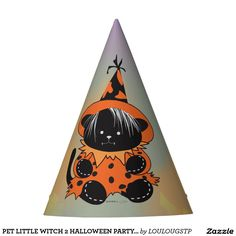 PET LITTLE WITCH 2 HALLOWEEN PARTY HAT