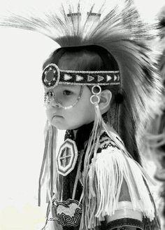 Native American Baby in Full Regalia