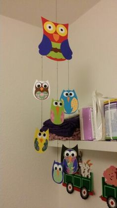 #homemade #owl #mobile  #creative #creation #hobby #animal #forrest #love #baby #babyroom