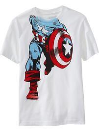 Captian America shirt Old Navy. Looks like I need to go to old navy ha
