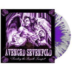 """L'album di debutto degli #AvengedSevenfold intitolato """"Sounding The Seventh Trumpet"""" su vinile splatter trasparente, viola e bianco in edizione limitata."""