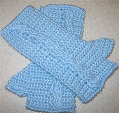 Cable Gauntlets- free crochet pattern