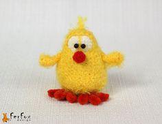 #Easter Chick crochet by #FerFoxDesign