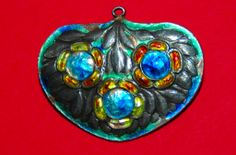 Beautiful Murrle Bennett Silver and enamel pendant brooch, stamped MB&Co 950 Condition: Good - some loss to enamel