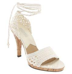 sandalia crochet                                                                                                                                                                                 Mais