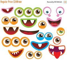 monsters mouth and eyes digital clipart little monster party rh pinterest com monster high birthday clip art monster high clip art free