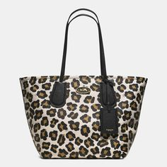 Coach Taxi Tote 28 in Ocelot Print Leather
