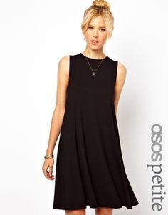 ASOS PETITE – Ärmelloses Swing-Kleid