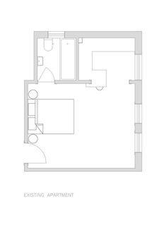 Darlinghurst Apartment,Existing Floor Plan