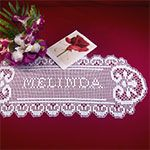 free+filet+crochet+name+charts   This doily makes the perfect gift for any occasion. Personalize it ...