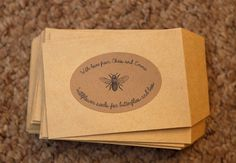 TNWC Real Brides: Emma's been making pretty labels for her wildflower seed wedding favours | The Natural Wedding Company