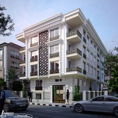 Turkey 2016 Designed for Pala İnşaat Residential Building Plan, Architecture Building Design, Home Building Design, Classic Architecture, Building Facade, Facade Design, Concept Architecture, Residential Architecture, Exterior Design
