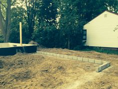June 28, 2014 Garage block wall