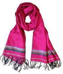 House of Wandering Silk - Afghan silk scarf in fuscia (Af08)