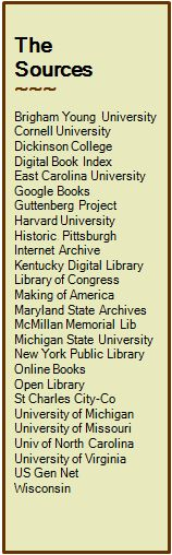 pp:   simplies searching for our ancestors by identifying and linking to the freely available digitized American biographies, genealogies and history books ...