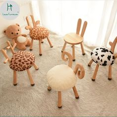 Wooden Projects, Wooden Crafts, Wooden Diy, Diy Furniture Table, Kids Furniture, Baby Table, Kids Stool, Baby Room Design, Wooden Animals
