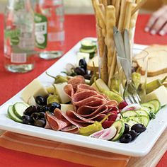 Antipasto - Our Best-Ever Party Appetizers Lemon-Basil Antipasto Recipe < Best Party Appetizer Recipes - Southern Living MobileLemon-Basil Antipasto Recipe < Best Party Appetizer Recipes - Southern Living Mobile Best Party Appetizers, Appetizer Dips, Appetizer Recipes, Antipasto Recipes, Antipasto Platter, Catering, Brunch, Snacks, Southern Recipes