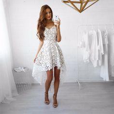 Super modna sukienka asymetryczna koronkowa - sklep internetowy Pakuten.pl