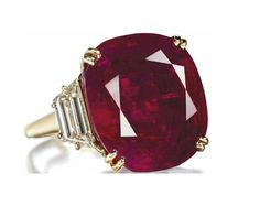 """""""The Hope Ruby,"""" a carat Burmese ruby and diamond ring by Chaumet was the . """"The Hope Ruby,"""" a carat Burmese ruby and diamond ring by Chaumet was the top lot sold at Lily Safra& """"Jewels for Hope"""" auction Ruby Jewelry, Jewelry Rings, Jewelry Accessories, Fine Jewelry, Jewelry Design, Jewlery, Silver Jewelry, Paper Jewelry, Glass Jewelry"""