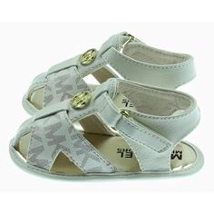 3e3ab40f2a00 Michael Kors Baby Girls Cream Sandals with Gold Detailing Baby Baby Girls