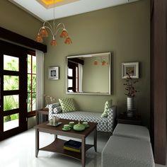 Pinturas Living Room Color Schemes, Paint Colors For Living Room, Living Room Designs, Sage Living Room, Living Room Decor, Bedroom Decor, Room Wall Colors, Décor Boho, Green Rooms