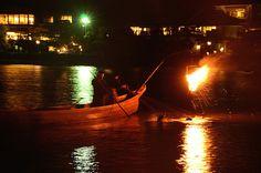 Cormorant fishing at Katsura-Gawa River in Arashiyama / 桂川の鵜飼(嵐山)