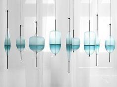 Suspension en verre de Murano FLOW T by GALLERY S. BENSIMON design Nao Tamura