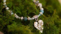 Bracelet apatite labradorite pierre de lune . Forêt Boréale .