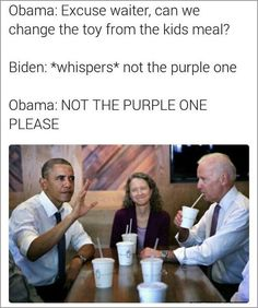 With his heartfelt love of trains, tendency to drop soundbites without consideration for curse words or reaction, oft-deployed finger guns, and his bromance with former President Obama, Joe Biden memes are some of the true gems of the internet. Joe And Obama, Obama And Biden, Joe Biden, Memes Humor, Jokes, Obama Funny, Funny Quotes, Funny Memes, Political Memes