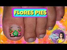 Decoración Para Uñas de los pies/Uñas Turqueza/decoración uñas pies - YouTube Flower Nail Designs, Nail Art Designs, Toe Nail Art, Toe Nails, Nail Time, Beautiful Toes, Manicure And Pedicure, Nail Polish, Color Menta