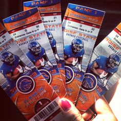 Boise state Tickets!!!!!!!! My dream is in my hands