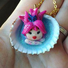Melime, Efficace contro l'insonnia e gli incubi. Favorisce i sogni profetici #polymerclay #fimo #mermaid #handmade #sirena #conchiglia #shell #mermaidinashell #imaladyladybug