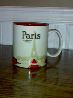 Coffee Mug- Starbucks Country Series, Paris With Original Box , 16 oz 2011