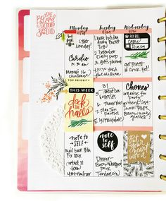 two FAB examples of fully functional Happy Planning™ in The Happy Planner™ of mambi Design Team member Stephanie Howell Planner Layout, Planner Pages, Planner Stickers, Planner Ideas, 2015 Planner, Study Planner, Blog Planner, Planner Bullet Journal, Bullet Journals